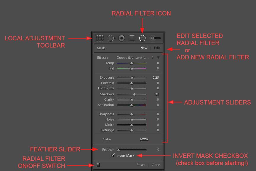 Lightroom 5 Radial Filter