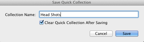 Save Quick Collection
