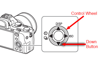 Sony A7 II Control Wheel