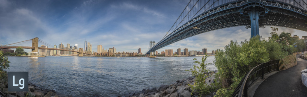 Brooklyn Bridge and Manhattan Bridge panorama