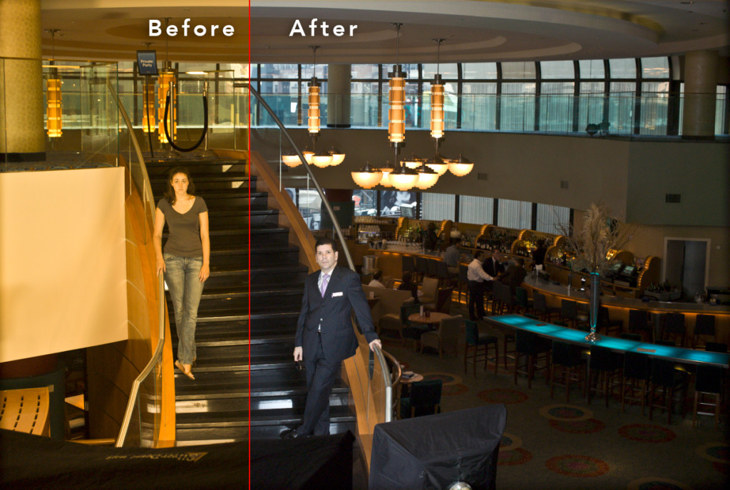 Before and After using the Lightroom White Balance Selector