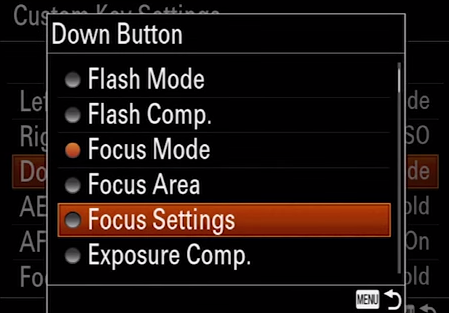 A7 II Focus Settings