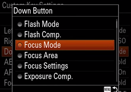 Setting the Focus Mode