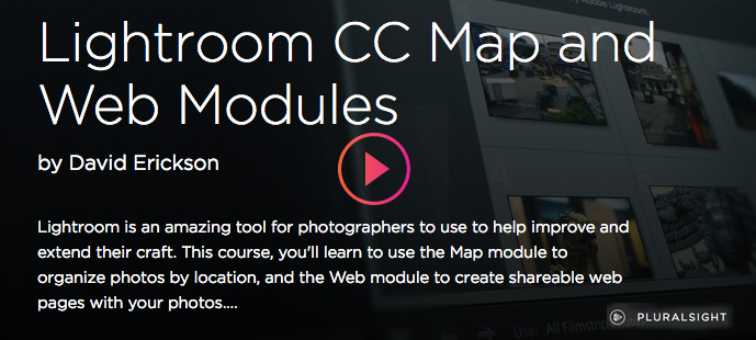 Lightroom Videos for learning web and map