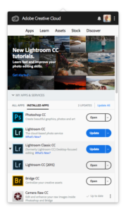 Adobe CC Lightroom Updates