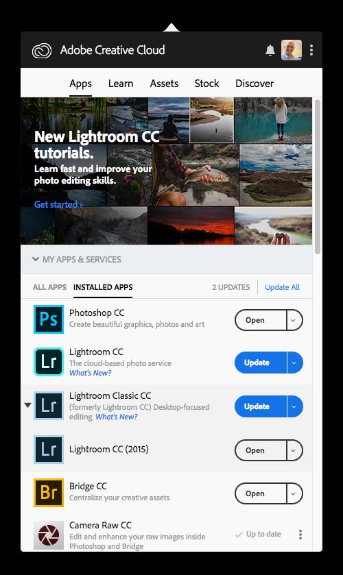 Lightroom CC 1 5 and Lightroom Classic CC 7 5 Updates