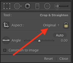 Lightroom Classic CC Aspect Ratio