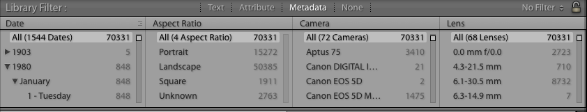 search in lightroom