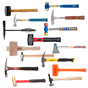 summer travel photography Different hammers for different types of jobs.