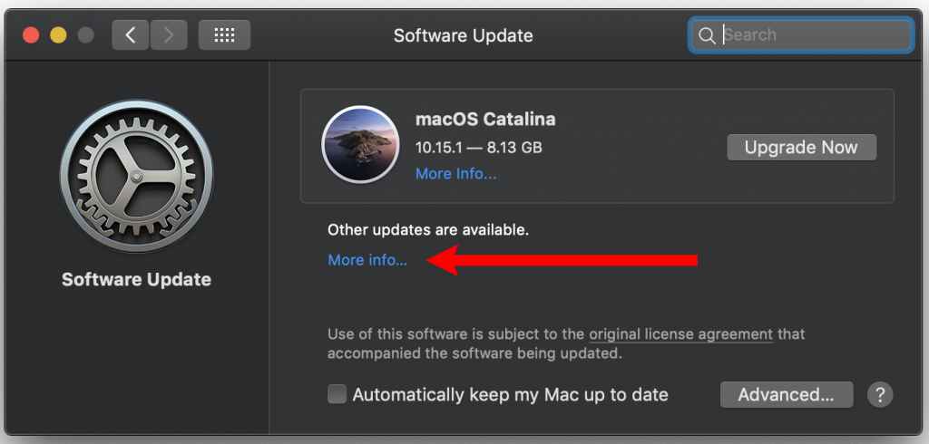 Updating to MacOS Catalina, Updating Mojave