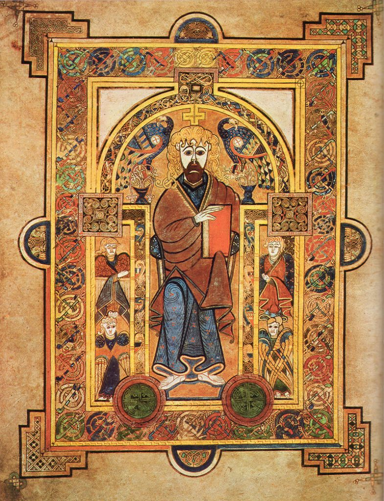 Copyright Preset - example of illuminated manuscript, the Book of Kells