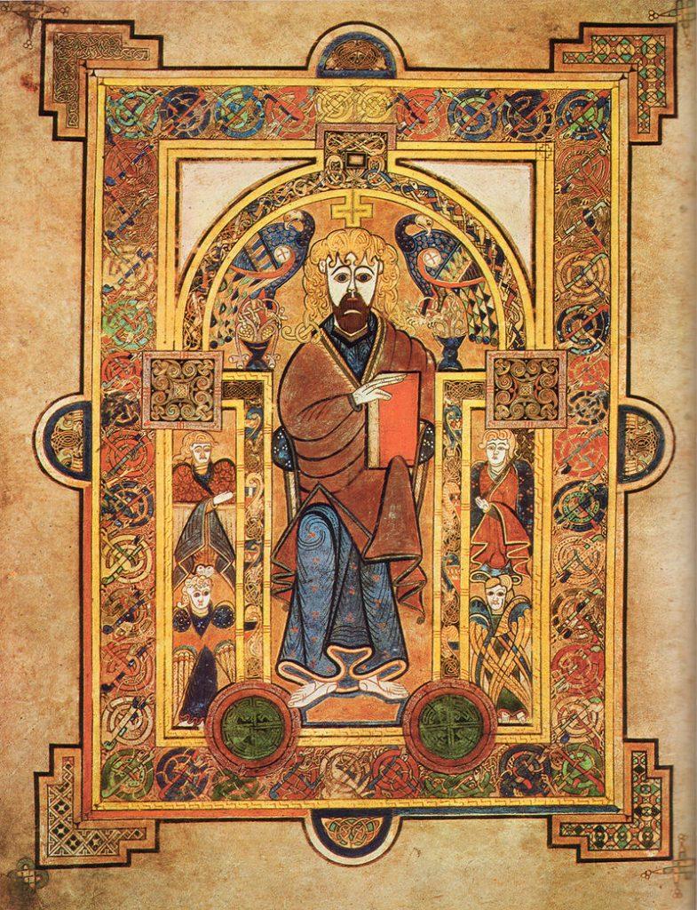 Copyright Preset - example of illuminated manuscript, the Book of Kells