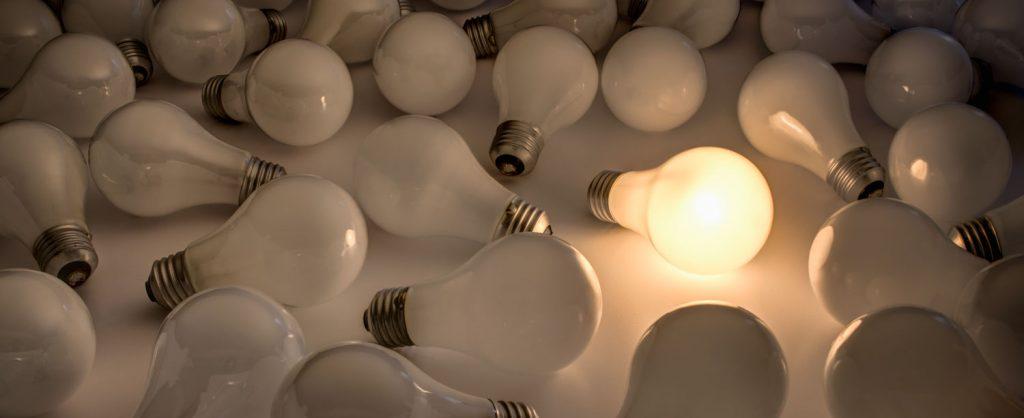 Copyright Preset - illustration of copied lightbulbs