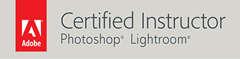 certified adobe lightroom instructor badge