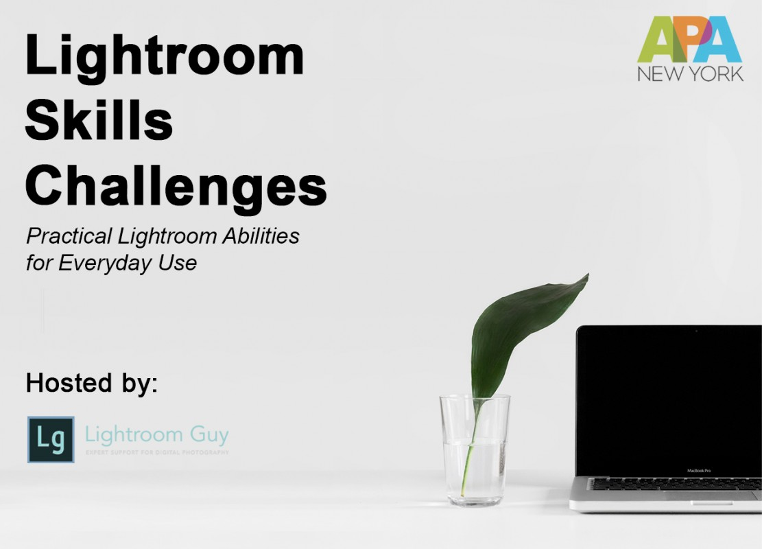 Join Lightroom Guy and the NY Chapter of the APA for a Lightroom Skills webinar about practical Lightroom abilities for everyday use.