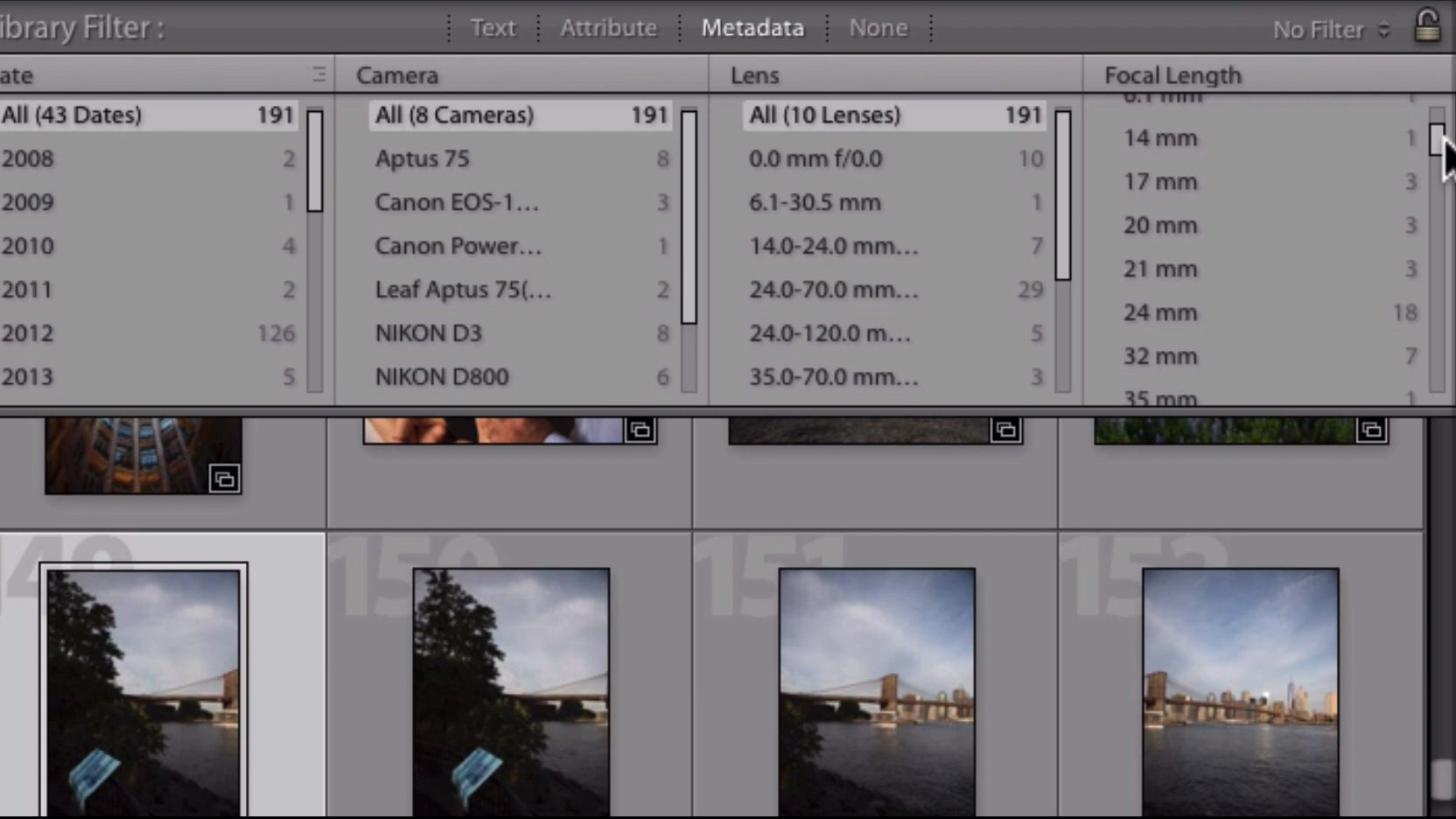 How to Choose a Lens using Lightroom