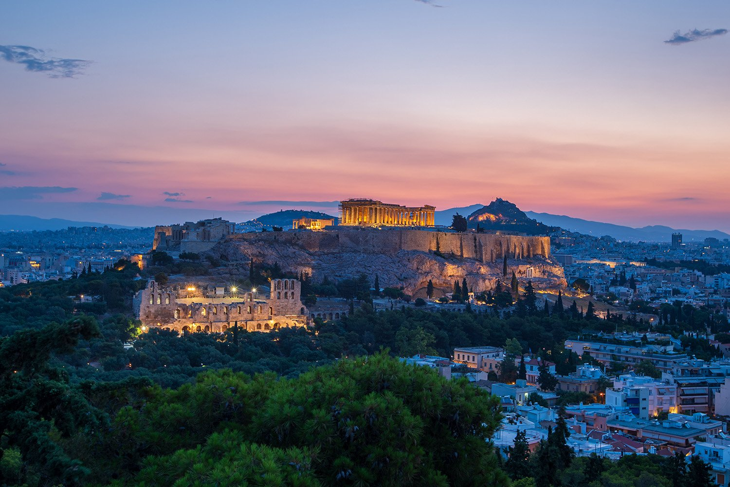 Greece Photography Workshop - Sunrise in Athens overlooking acropolis