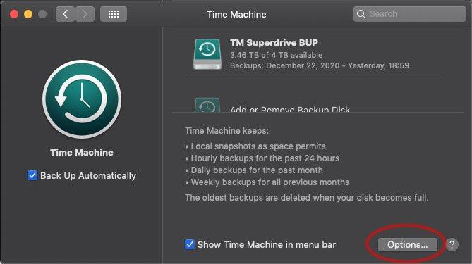 World Backup Day System Preferences